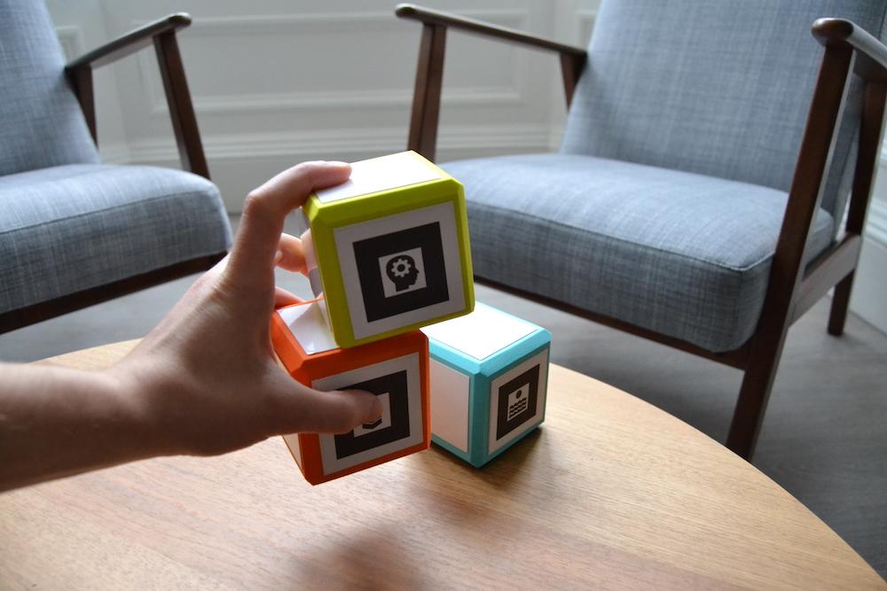 Prototype QR scannable datablox